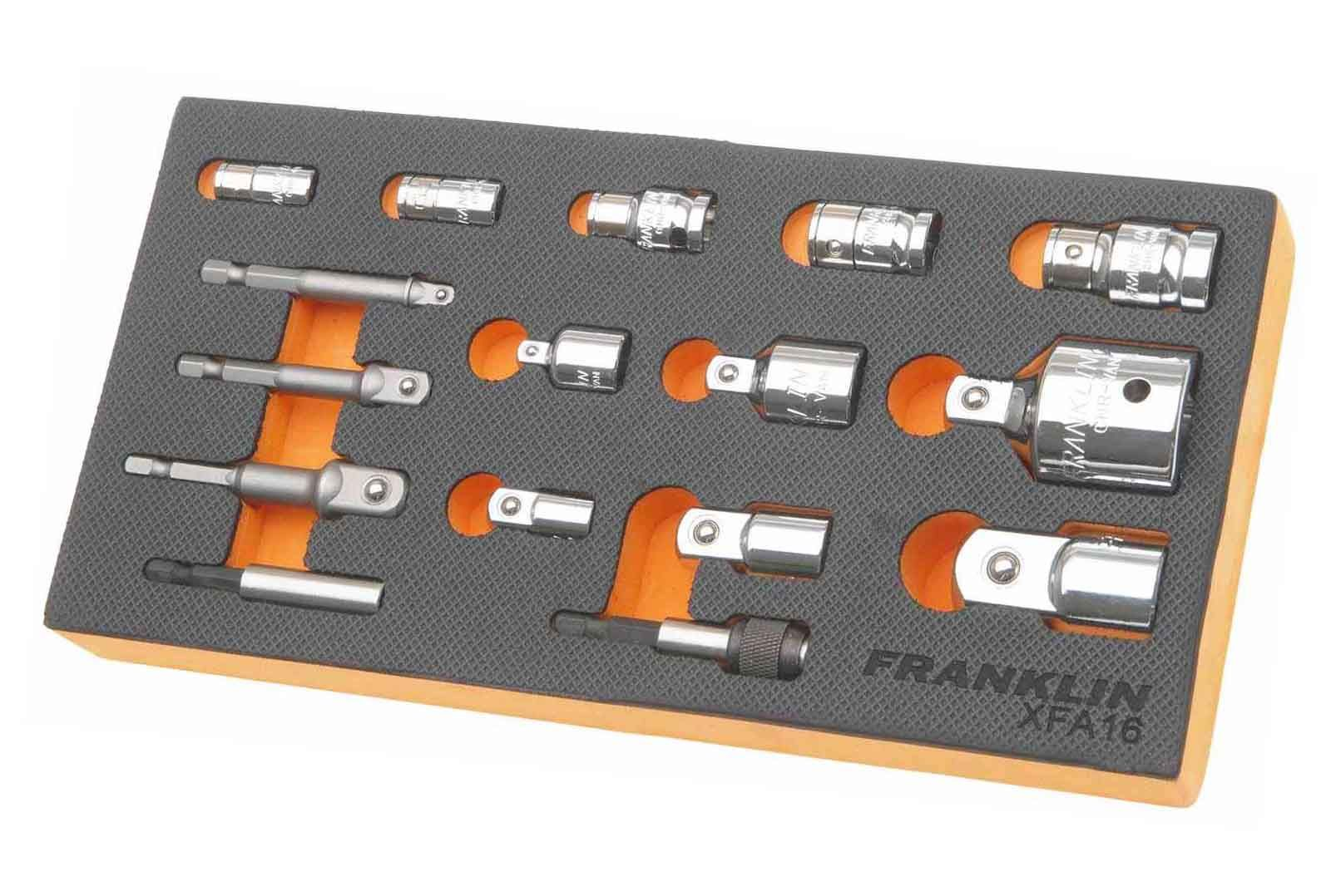 Franklin XF 16 Piece Bit Holder & Socket Adaptor Set Mixed Drive