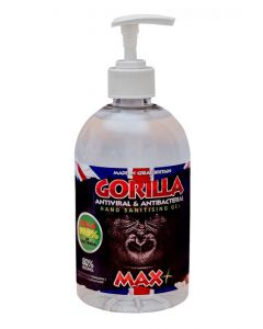 Gorilla Antibacterial Hand Sanitiser Gel MAX+ 80% Alcohol 500ml