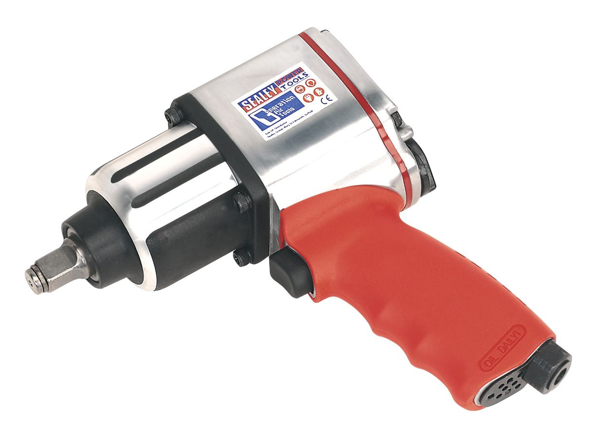 """Sealey Air Impact Wrench 1/2""""Sq Drive Twin Hammer"""