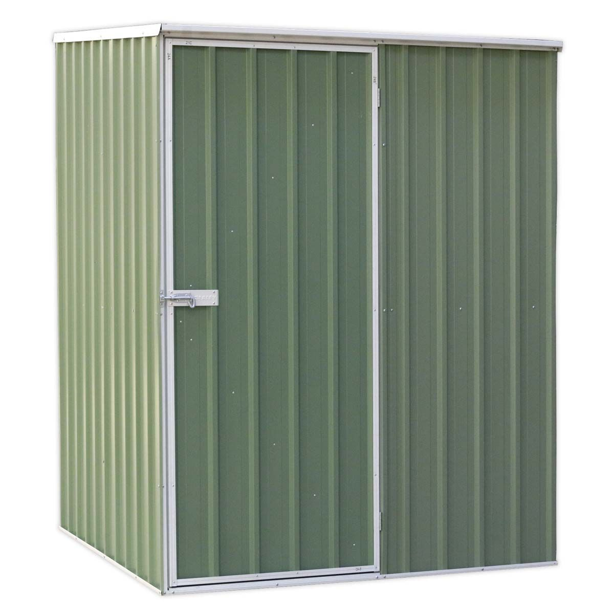 Sealey Galvanized Steel Shed Green 1.51 x 1.51 x 2m