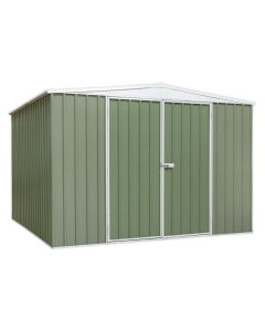 Sealey Galvanized Steel Shed Green 3 x 3 x 2m