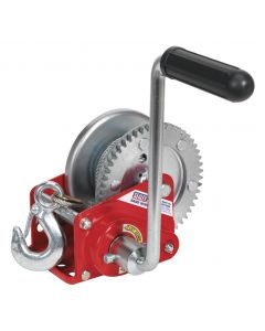 Sealey Geared Hand Winch with Brake & Cable 540kg Capacity