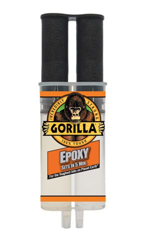 Gorilla Glue 5 Minute 2-Part Epoxy Syringe 25ml