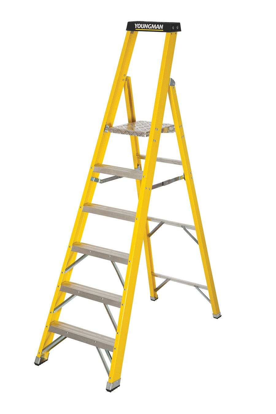 Youngman S400 Fibreglass Heavy Duty Platform Step Ladders