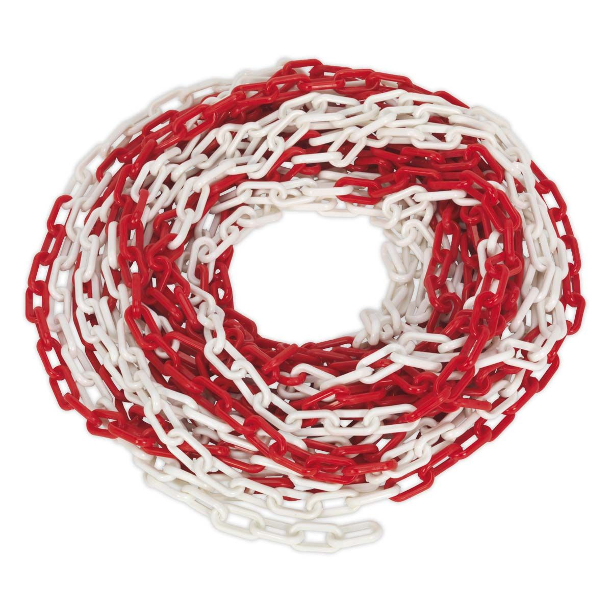 Sealey Safety Chain Red/White 25m x 6mm