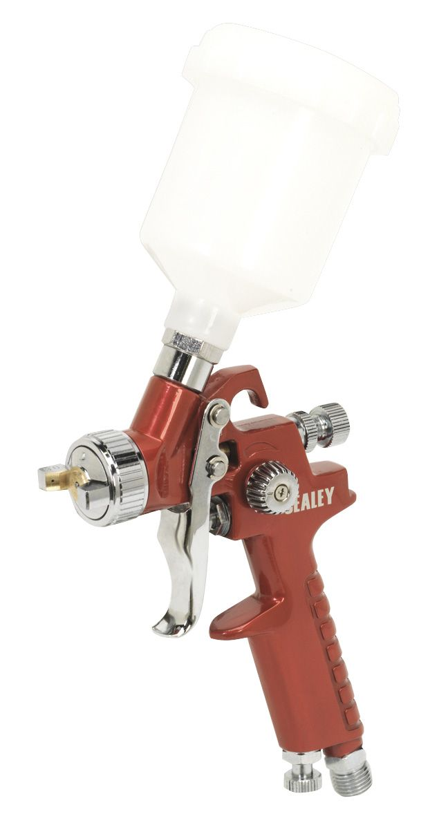 Sealey HVLP Gravity Feed Touch-Up Spray Gun 0.8mm Set-Up