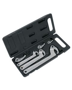 Sealey Adjustable Hook & Pin Wrench Set 11pc