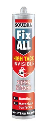 Soudal Fix All High Tack Sealant Adhesive Invisible 290ml