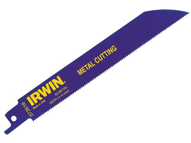 IRWIN 614R 150mm Bi-Metal Sabre Saw Blades Metal Pack of 25