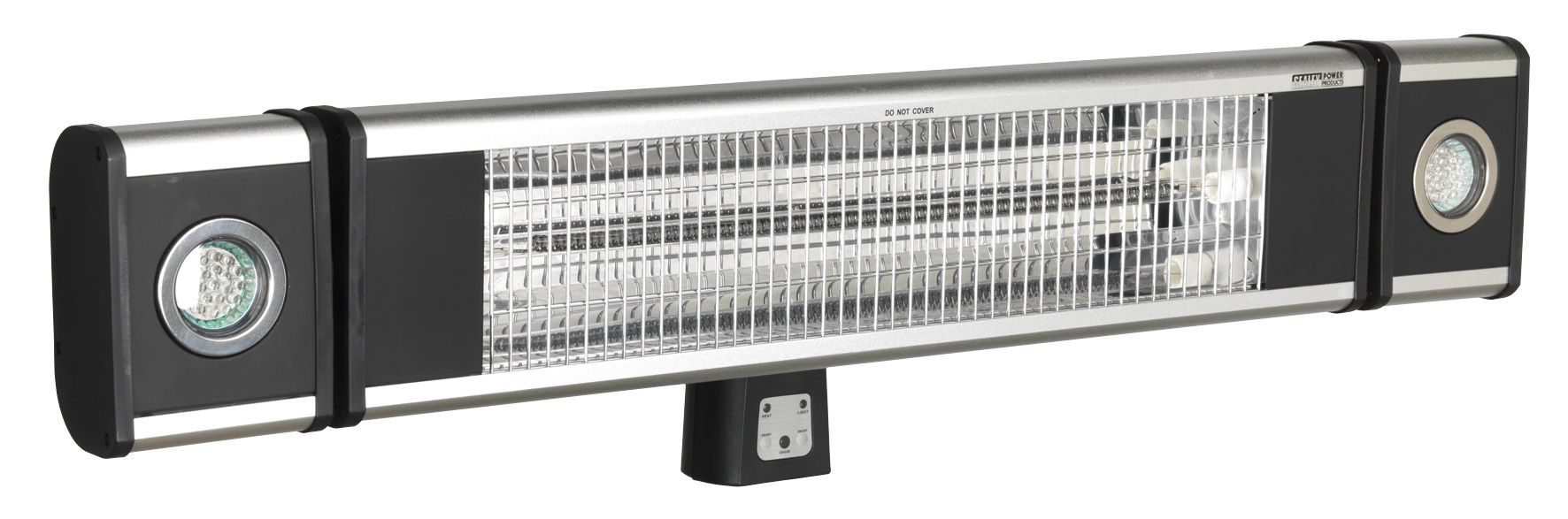 Sealey IWMH1809LR 1.8kW Carbon Fibre Infrared Wall Heater With Lights 230v