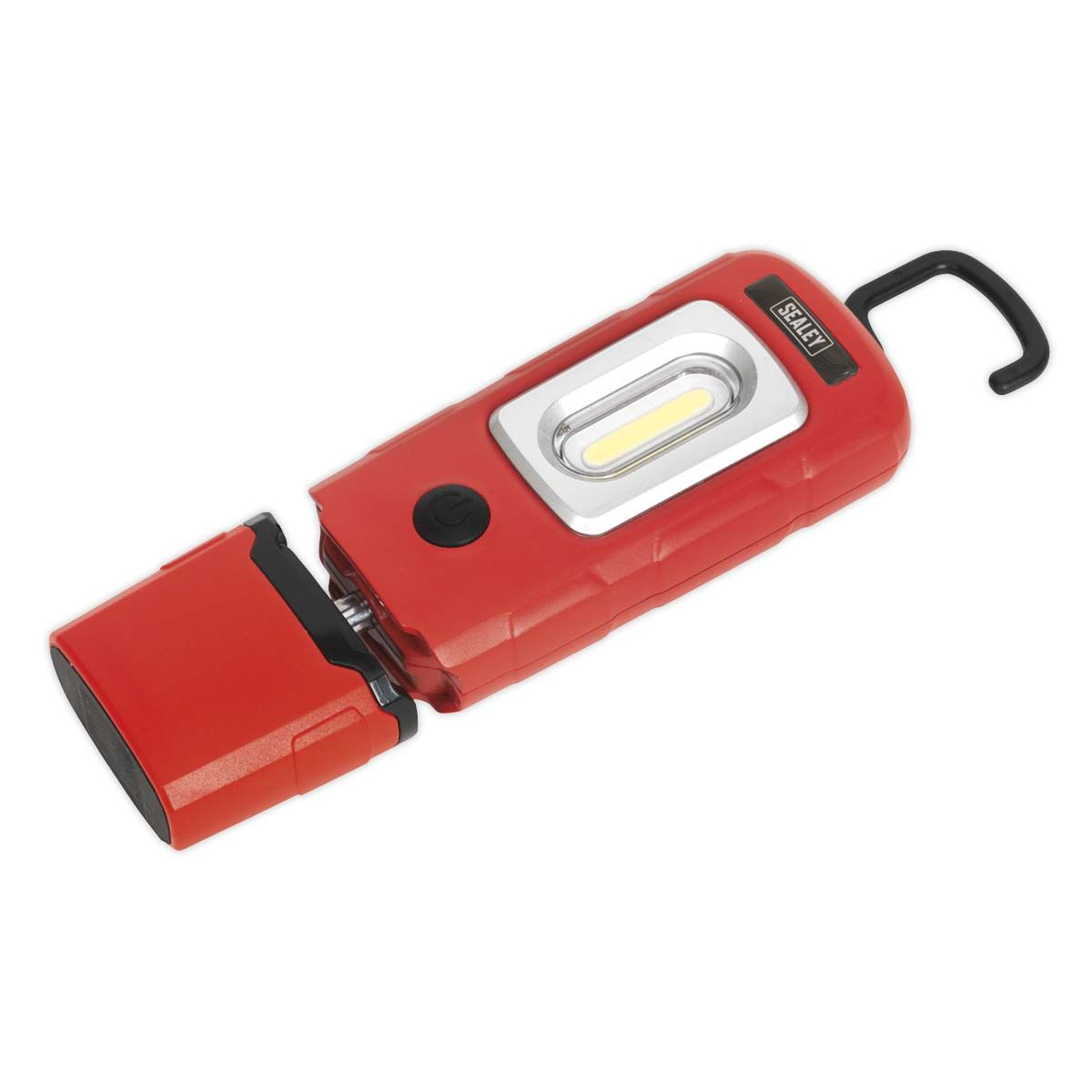 Sealey Rechargeable 360° Inspection Lamp 3W COB + 1W LED Red Lithium-Polymer