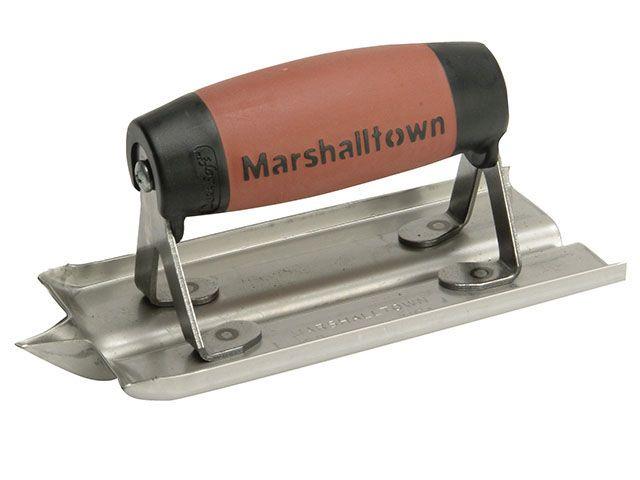 Marshalltown M180D Groover Trowel Stainless Steel Durasoft Handle 6 x 3in