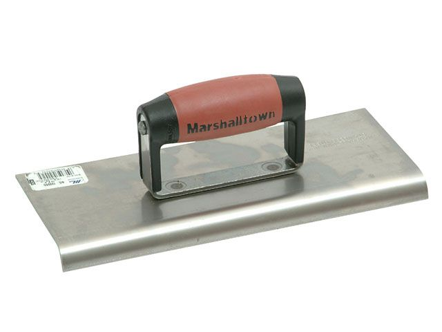 Marshalltown M192SS Cement Edger Stainless Steel Durasoft Handle 10in x 4in