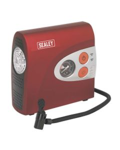 Sealey Tyre Inflator/Mini Air Compressor with Work Light 12V