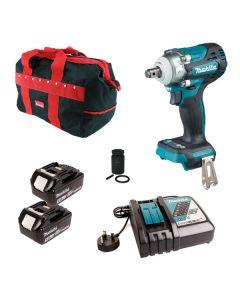 Makita DTW300Z 18v Brushless Impact Wrench Kit 2x 5.0Ah Batteries
