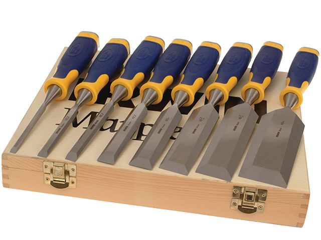 IRWIN Marples ProTouch Bevel Edge Chisel Set of 6 Plus 2 Chisels FREE