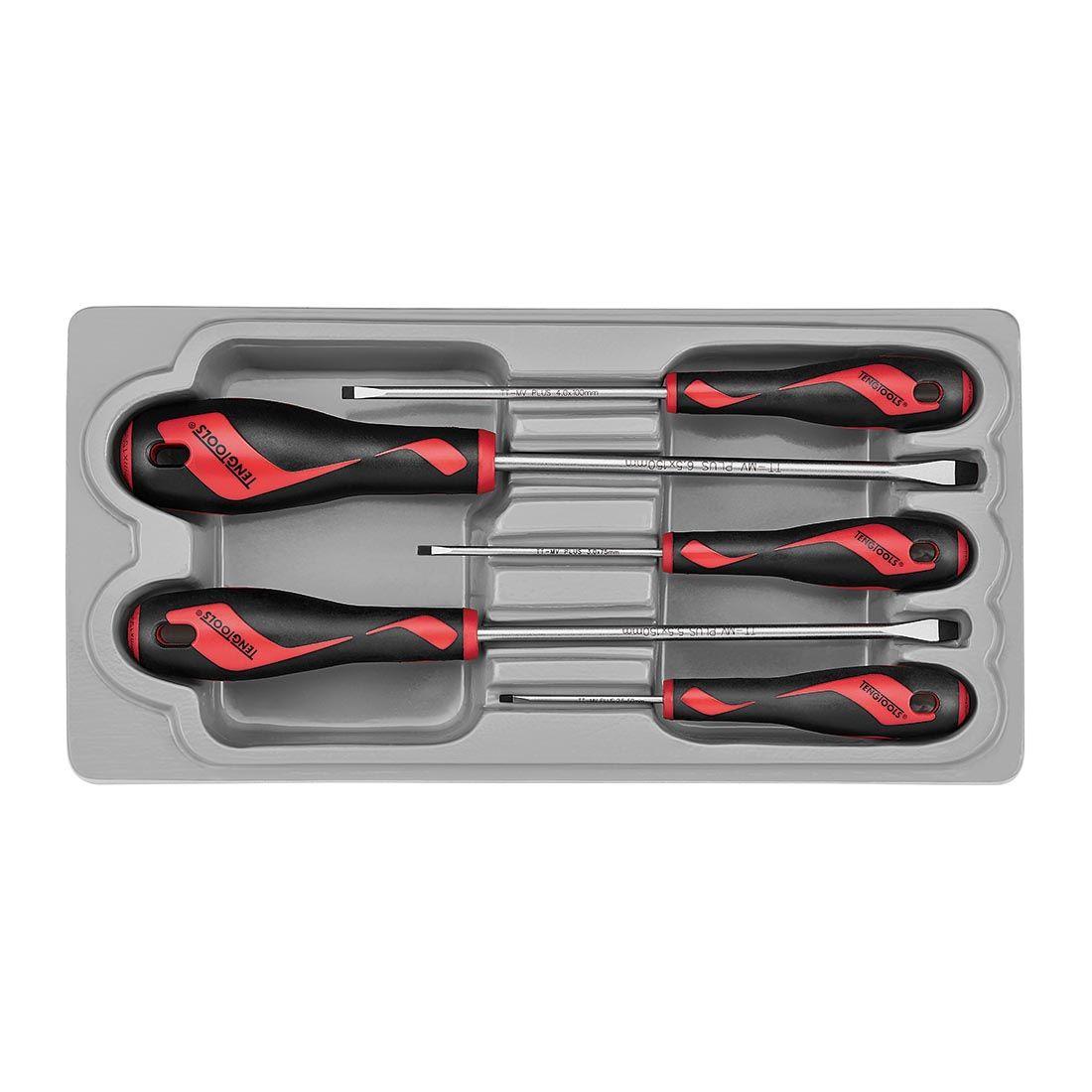 Teng Tools Flat Screwdriver Set 5 Piece