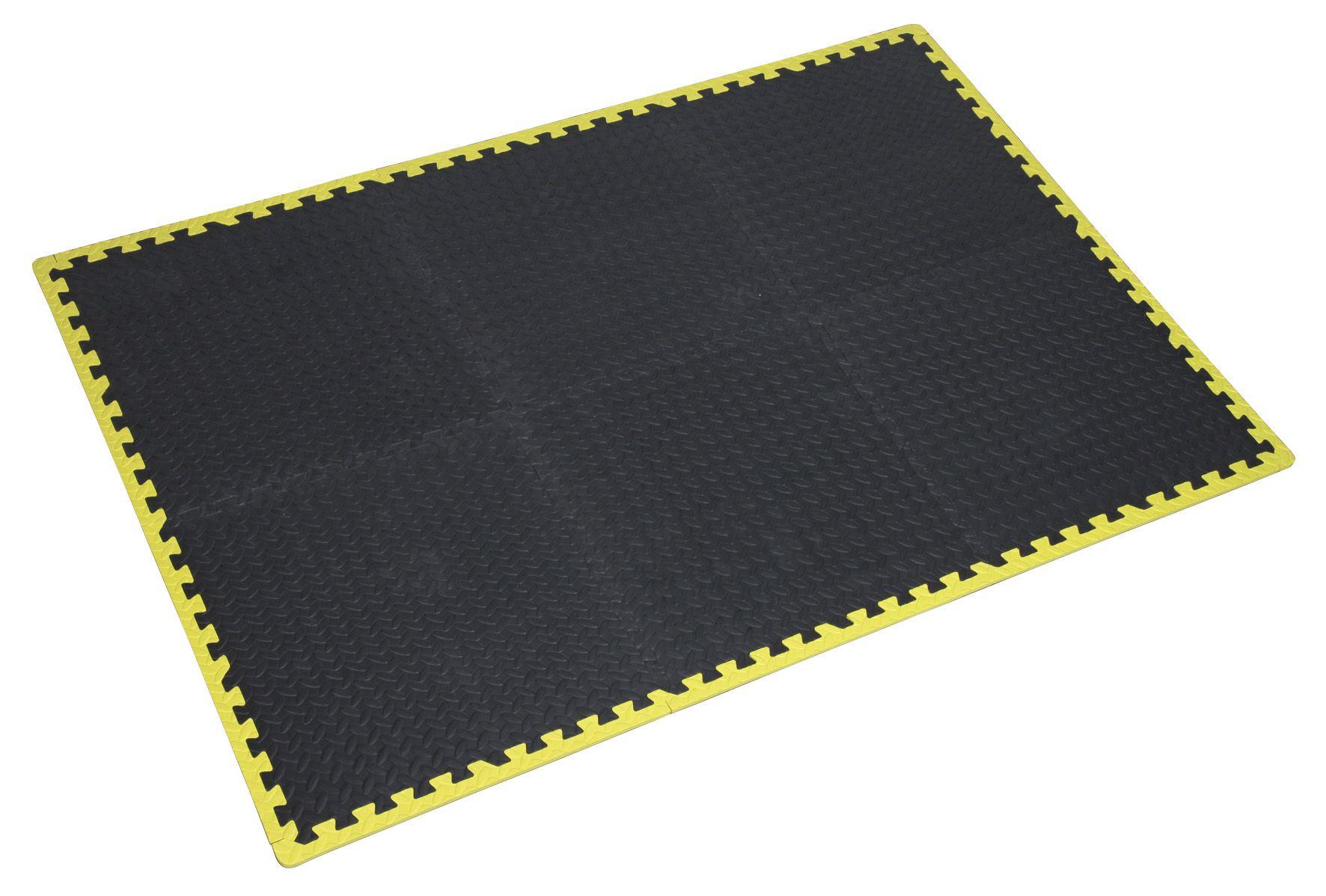 Sealey Interlocking EVA Foam Workshop Mat Set 1240 x 1825mm with Hi-Vis Edges