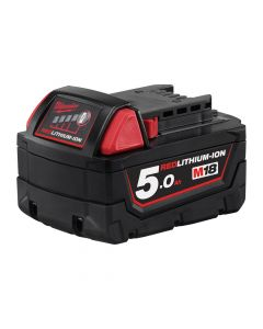 Milwaukee M18B5 18v 5.0Ah Red Lithium-Ion Battery