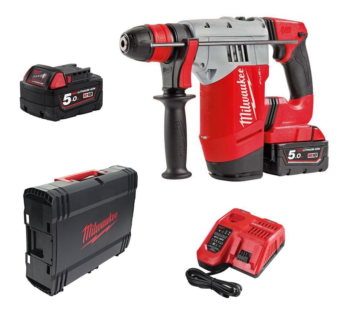 Milwaukee Fuel M18CHPX-502X 18v SDS-Plus Hammer Drill Kit 2x 5Ah
