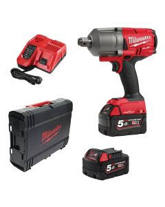 "Milwaukee Fuel M18ONEFHIWF34-502X 18v 3/4"" Impact Wrench Kit 2x 5Ah"