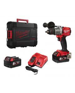 Milwaukee Fuel M18ONEPD2-502X 18v Combi Drill Kit 2x 5Ah