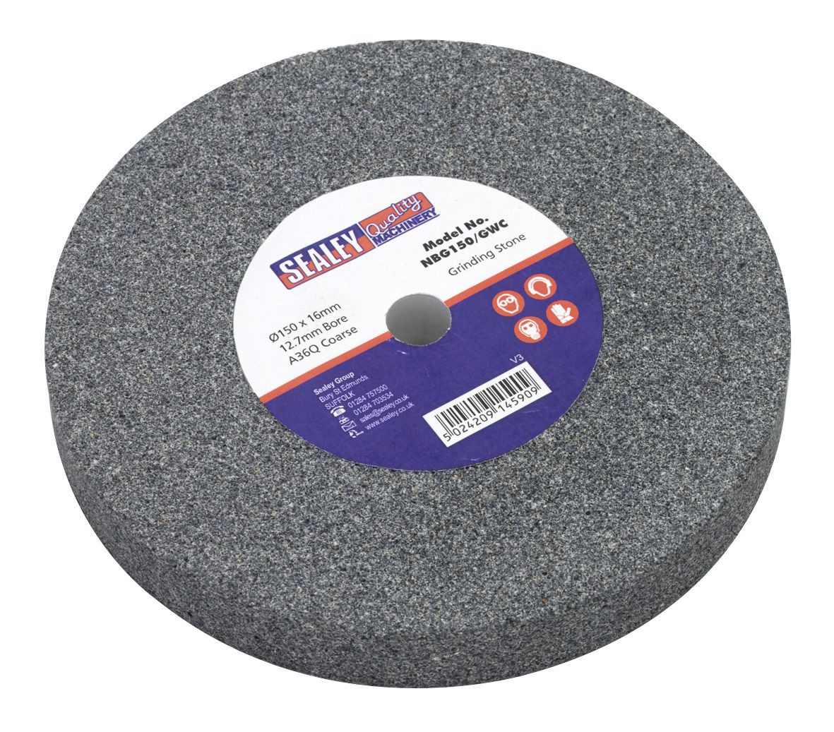 Sealey Grinding Stone 150 x 16mm 13mm Bore