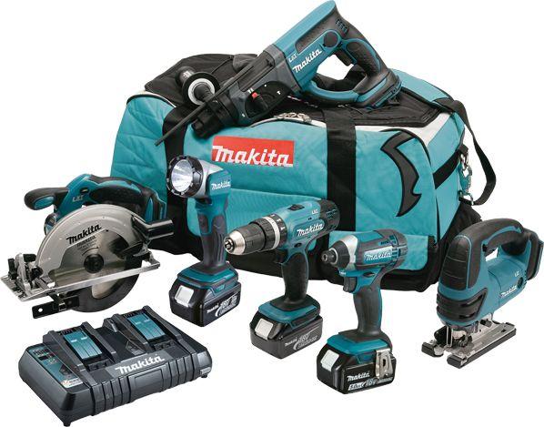 Makita DLX6068PT 18v 3x 5.0Ah Li-ion 6 Piece Cordless Kit