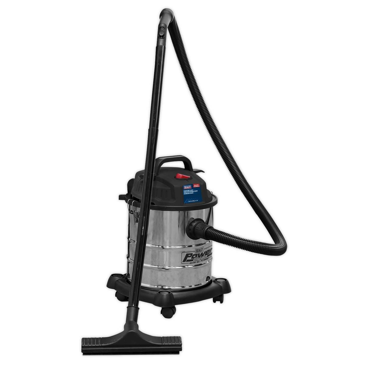 Sealey Vacuum Cleaner Wet & Dry 20L 1200W/230V Stainless Drum