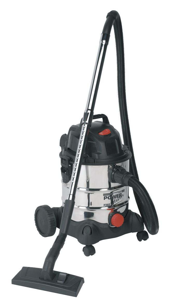 Sealey Vacuum Cleaner Industrial Wet & Dry 20L 1250W/230V Stainless Drum