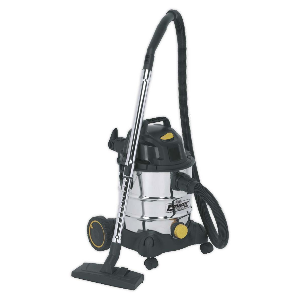 Sealey Vacuum Cleaner Industrial Wet & Dry 20L 1250W/110V Stainless Drum