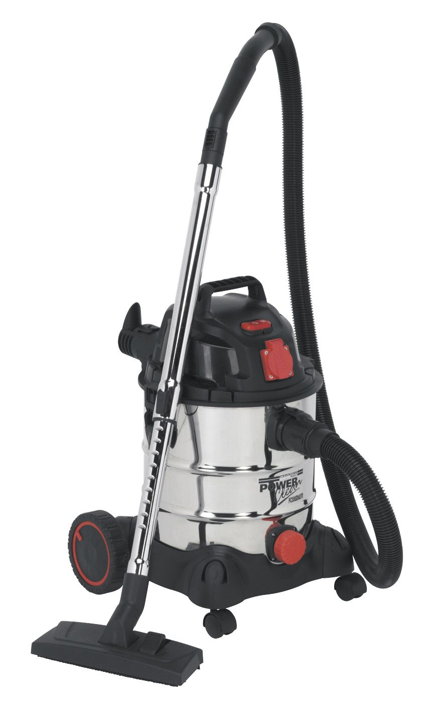 Sealey Vacuum Cleaner Industrial 20L 1400W/230V Stainless Drum Auto Start