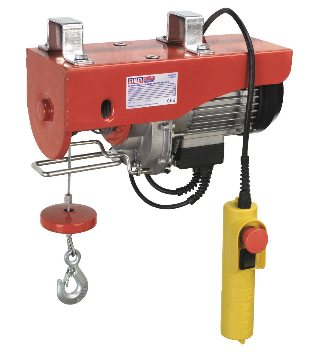 Sealey Power Hoist 230V/1ph 400kg Capacity