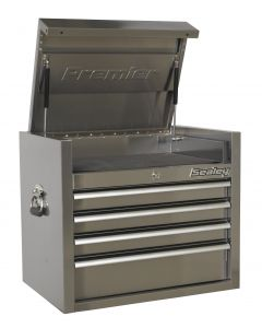 Sealey Premier Topchest 4 Drawer 675mm Stainless Steel Heavy-Duty