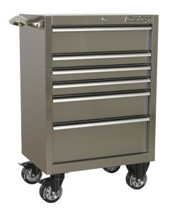 Sealey Premier Rollcab 6 Drawer 675mm Stainless Steel Heavy-Duty