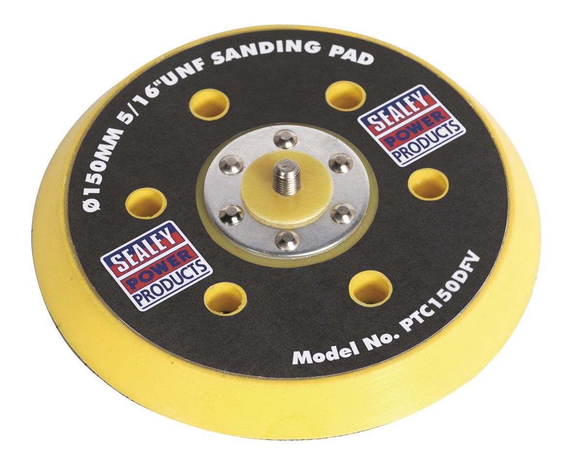 "Sealey DA Dust-Free Backing Pad for Hook & Loop Discs Ø145mm 5/16""UNF"