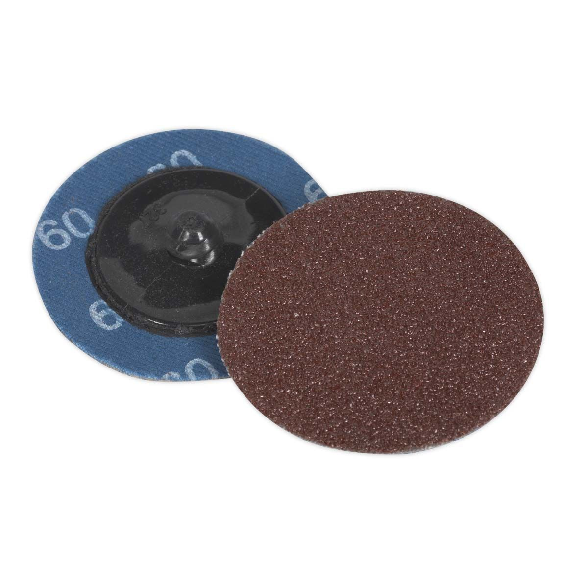 Sealey Quick-Change Sanding Disc Ø50mm 60Grit Pack of 10