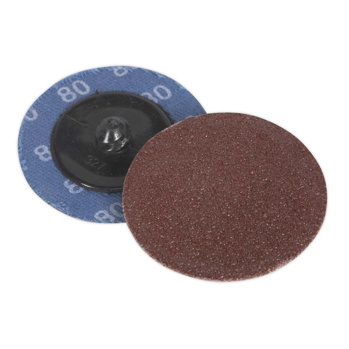 Sealey Quick-Change Sanding Disc Ø50mm 80Grit Pack of 10