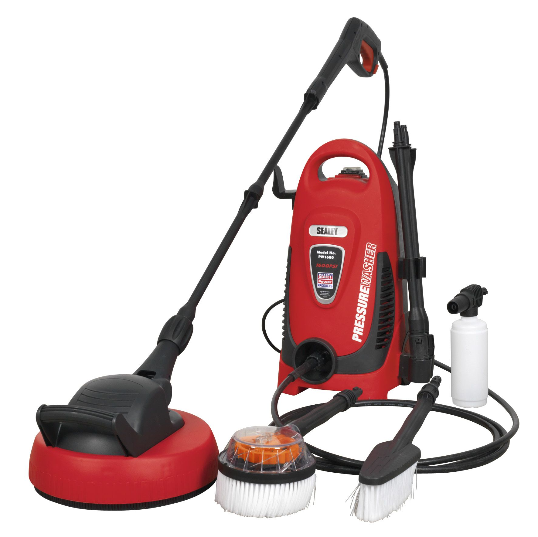 Sealey Pressure Washer 110bar with TSS & Rotablast Nozzle 230V with Accessory Ki