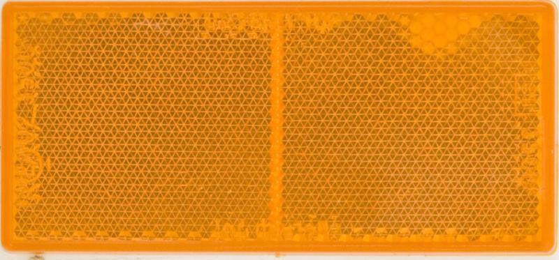 Pk 10 Reflectors Amber 100 x 45mm Self-Adhesive