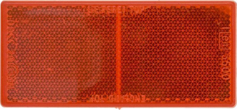 Pk 10 Reflectors Red 100 x 45mm Self-Adhesive
