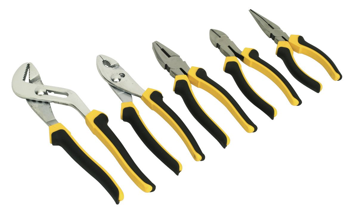 Siegen Comfort Grip Pliers Set 5pc