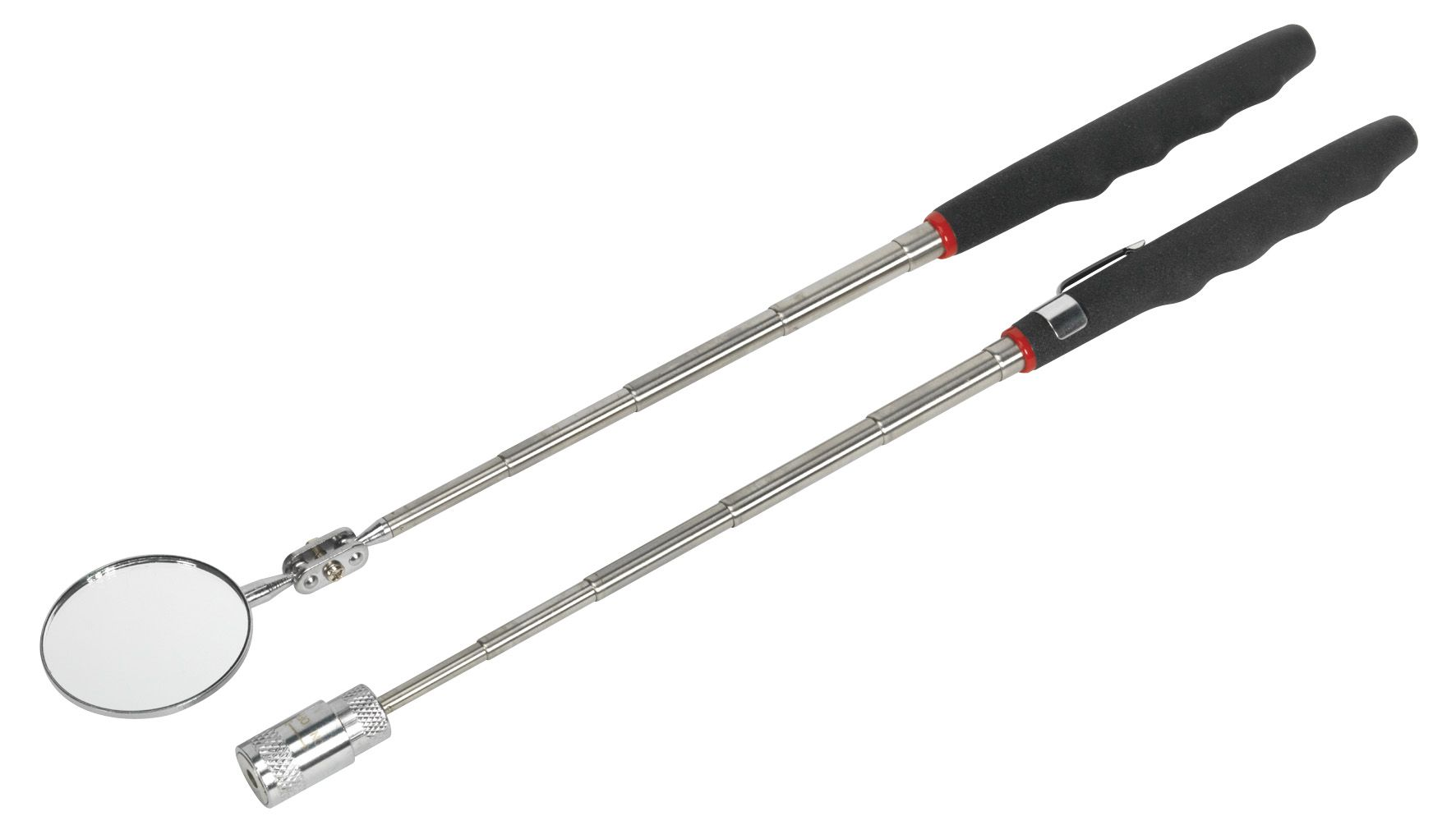 Siegen Telescopic Magnetic LED Pick-Up Tool & Inspection Mirror Set 2pc