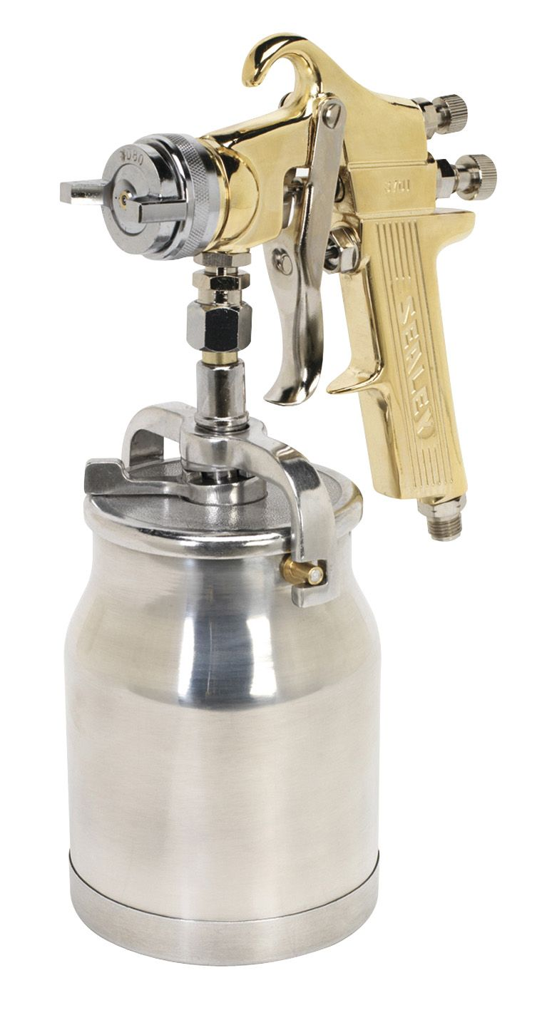Sealey Spray Gun Professional Suction Feed 1.8mm Set-Up