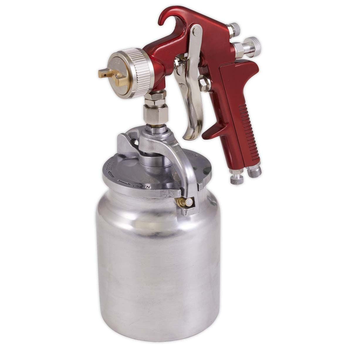 Sealey Suction Feed Spray Gun 2mm Set-Up
