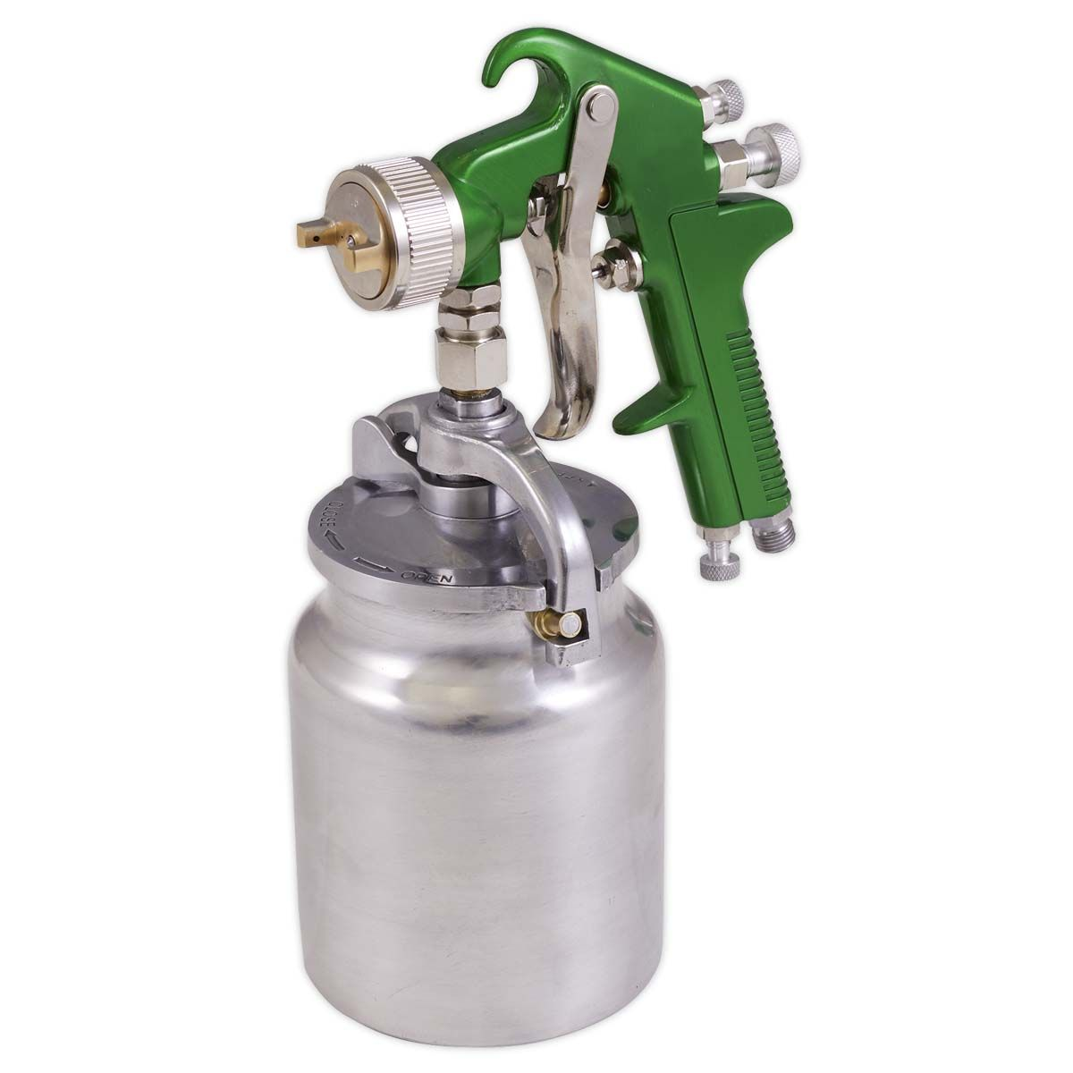 Sealey Suction Feed Spray Gun 2.5mm Set-Up