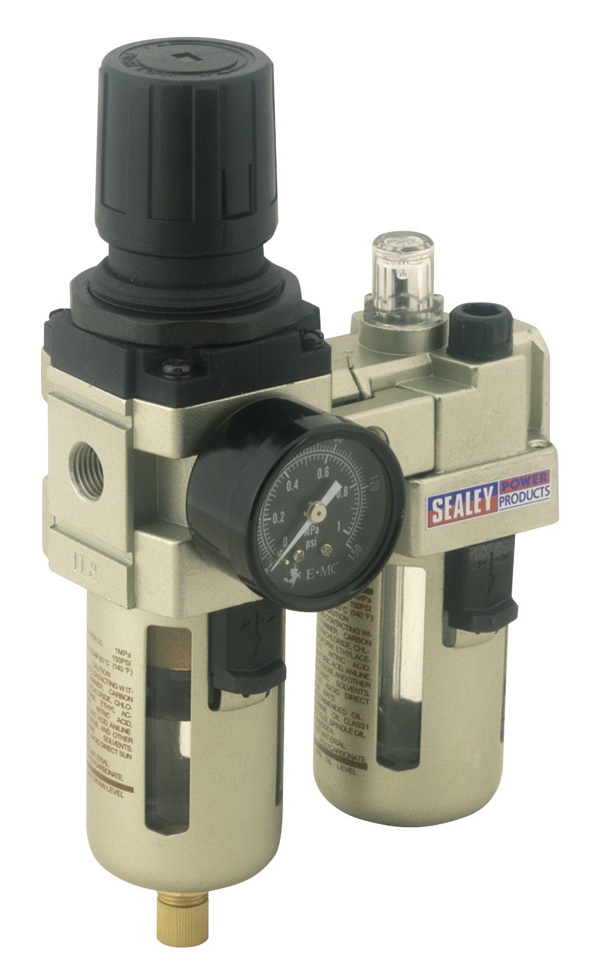 Sealey Air Filter/Regulator/Lubricator Max Airflow 60cfm
