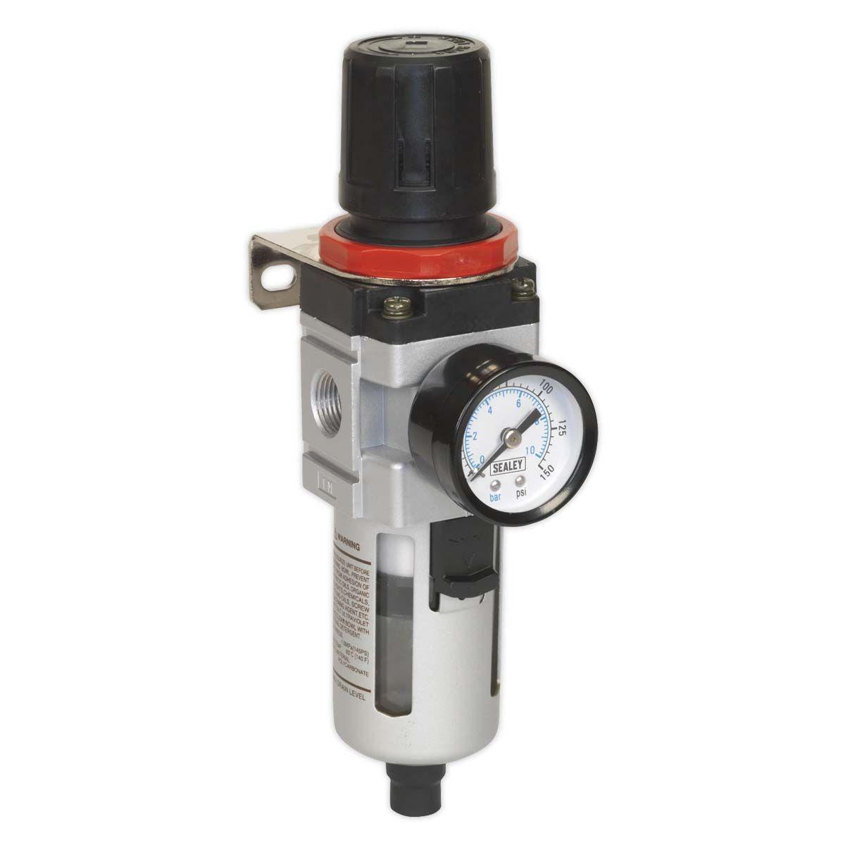 Sealey Air Filter/Regulator with Gauge