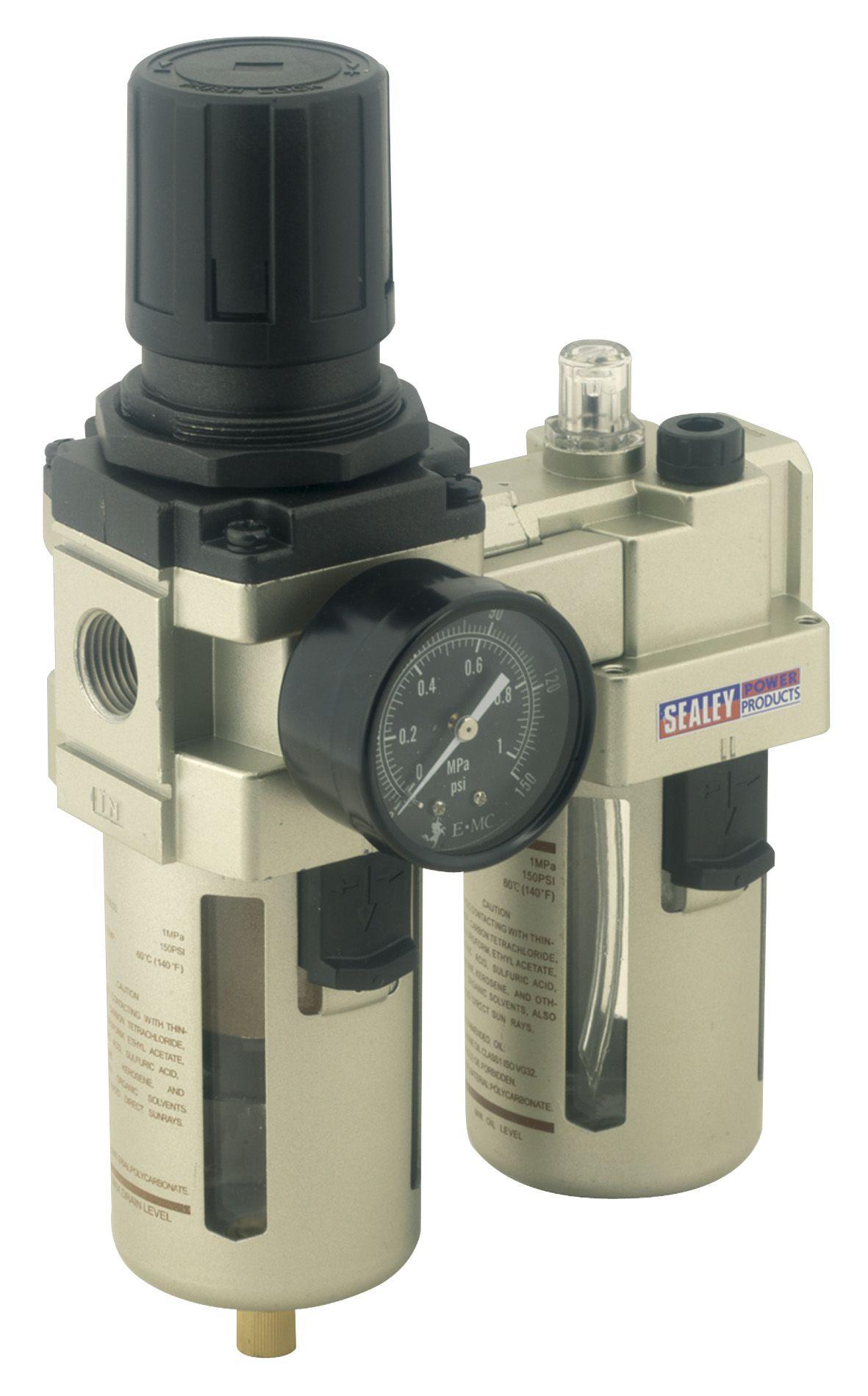 Sealey Air Filter/Regulator/Lubricator Max Airflow 105cfm