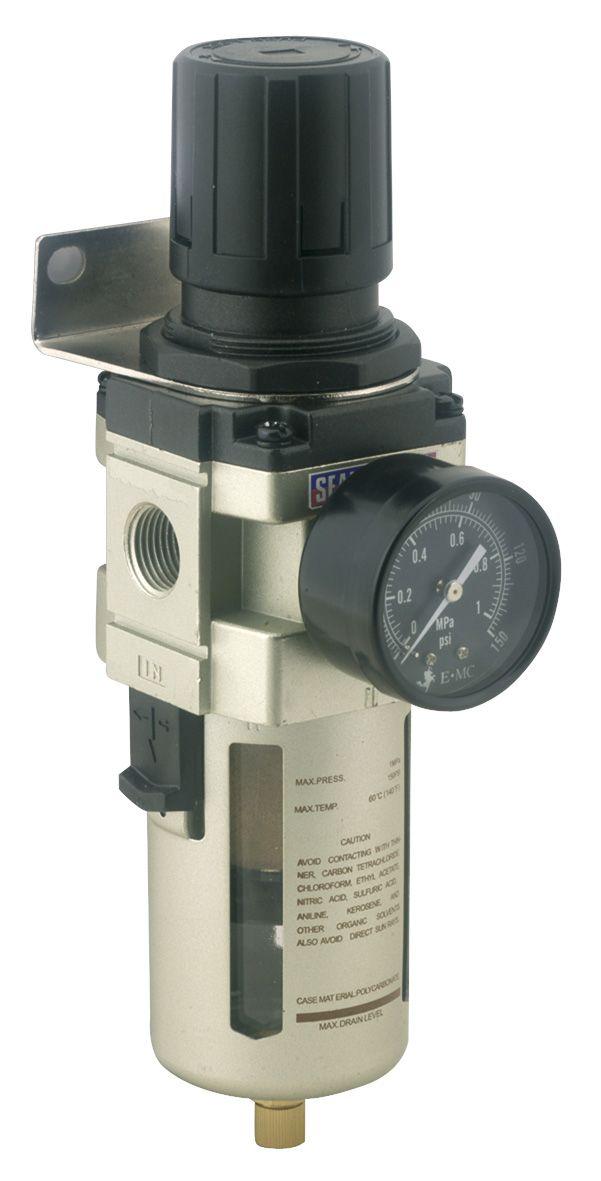 Sealey Air Filter/Regulator Max Airflow 140cfm